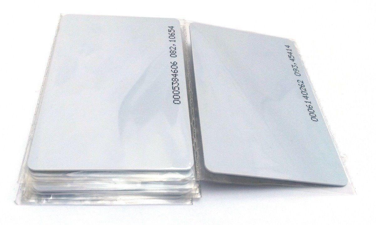 Cartão Proximidade Rfid 125khz Controle De Acesso 250 Unid