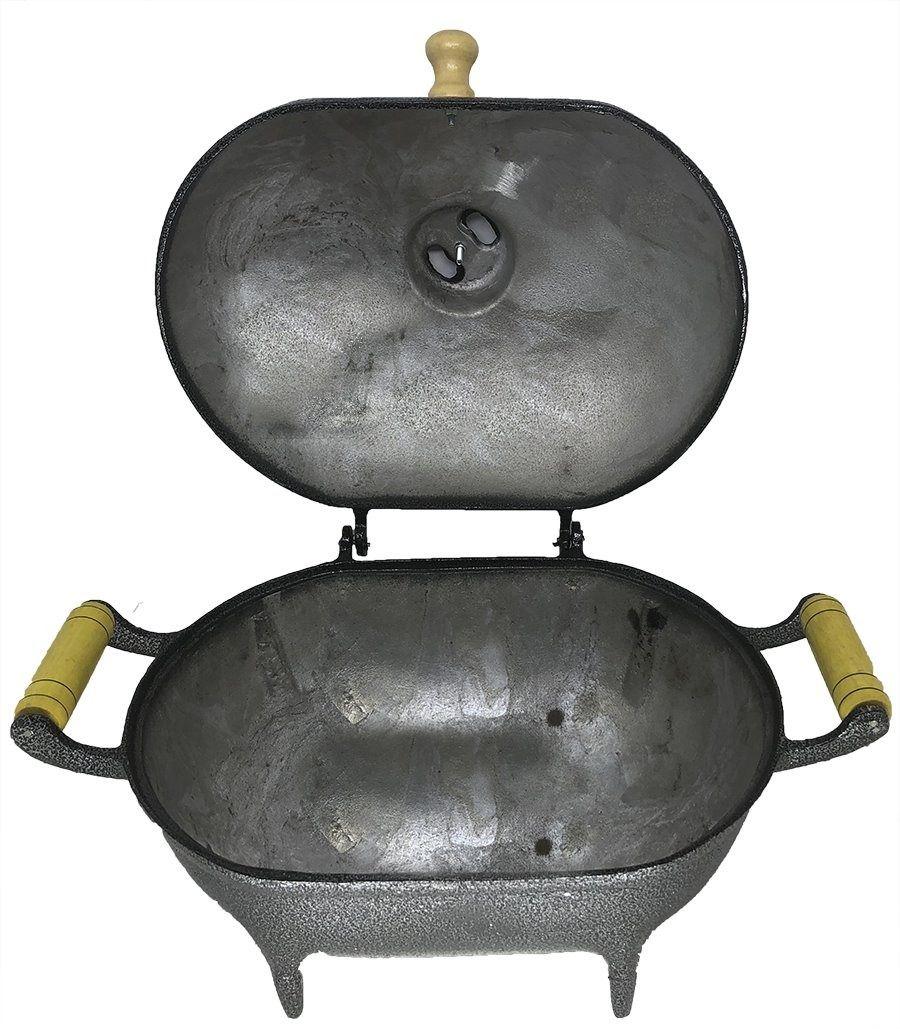 Churrasqueira À Bafo De Aluminio Fundido / Batido Media