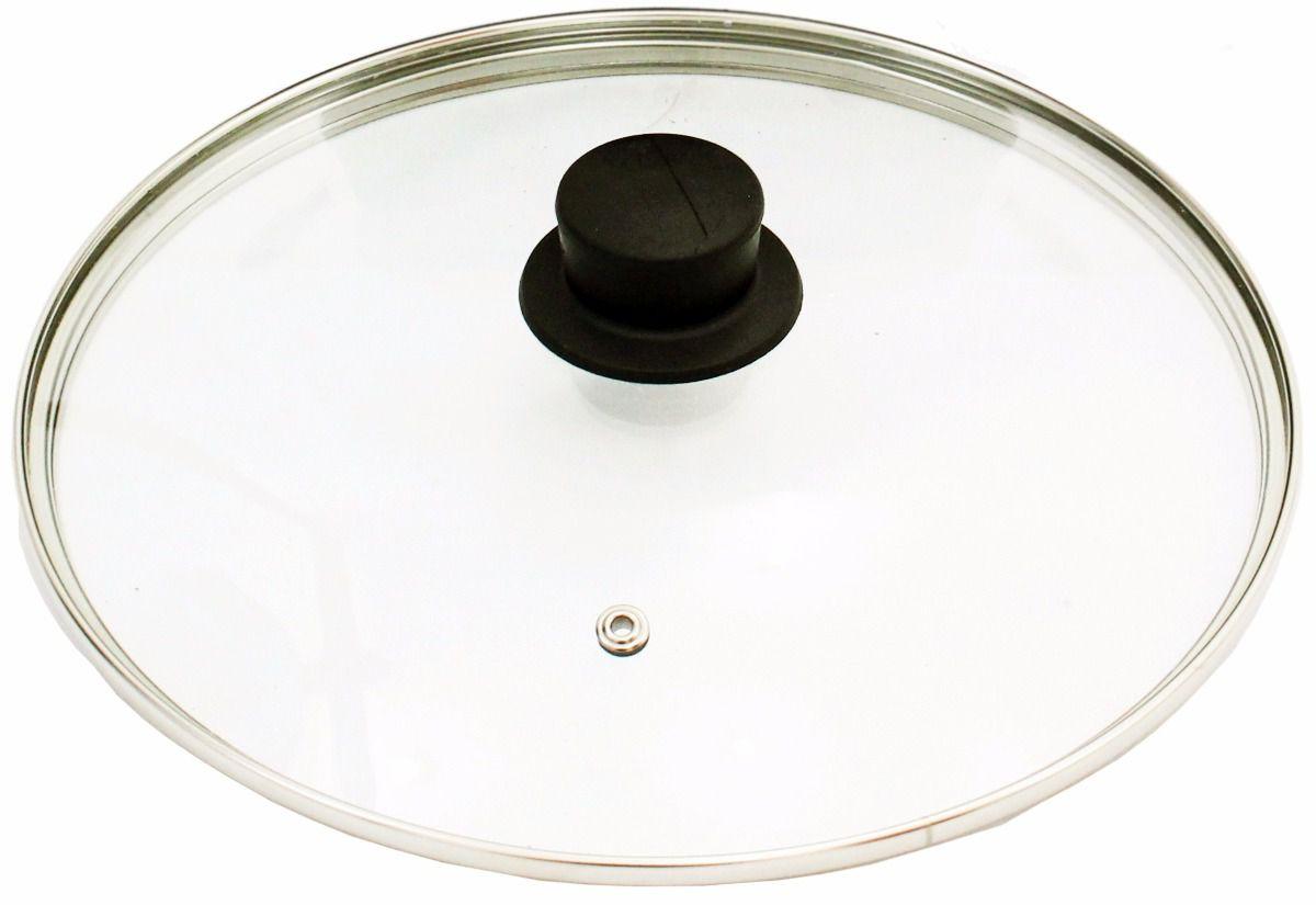 Conjunto de Tampas de Vidro Temperado Avulsas duas tampas 24/25 cm e uma 36/37