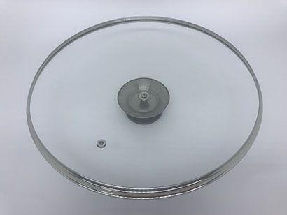 Conjunto de Tampas de Vidro Temperado Avulsas, três tampas 24/25 cm e uma 36/37