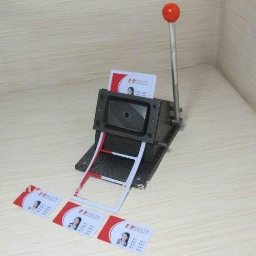 Cortador Cartão Pvc Crachá+furador Ovoide+placas+folha Laser