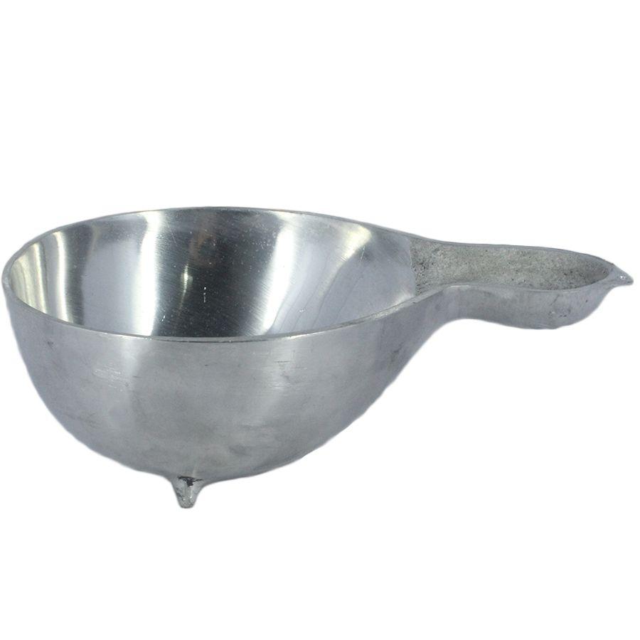 Cuia de Aluminio polido com Pé para doses, Bebidas, Pinga