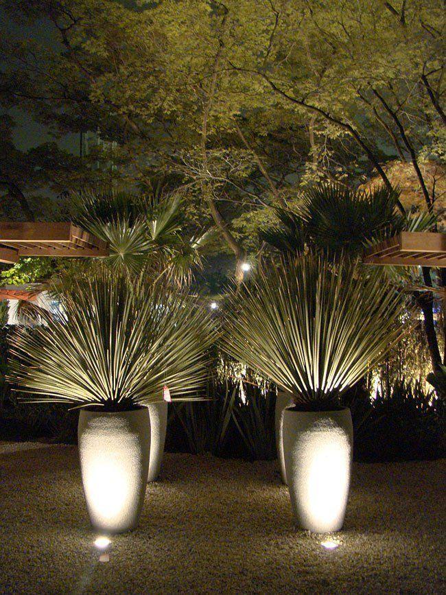 Lampada Luminari LED Espeto jardim Spot 7W Luz Branco quente