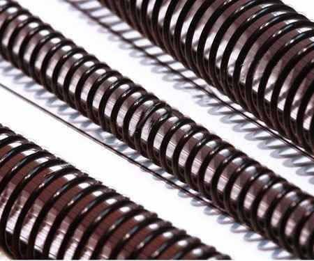 Espirais Para Encadernação De Espiral Preto 17mm 100 Folhas