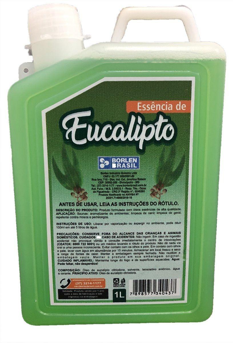 Essência Eucalipto Concentrado Para Sauna Galão De 1,0 Litro