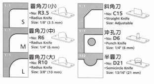Faca Lâmina Furo 6mm Meia-Lua D6 para Canteadeira Diamond 6 em 1