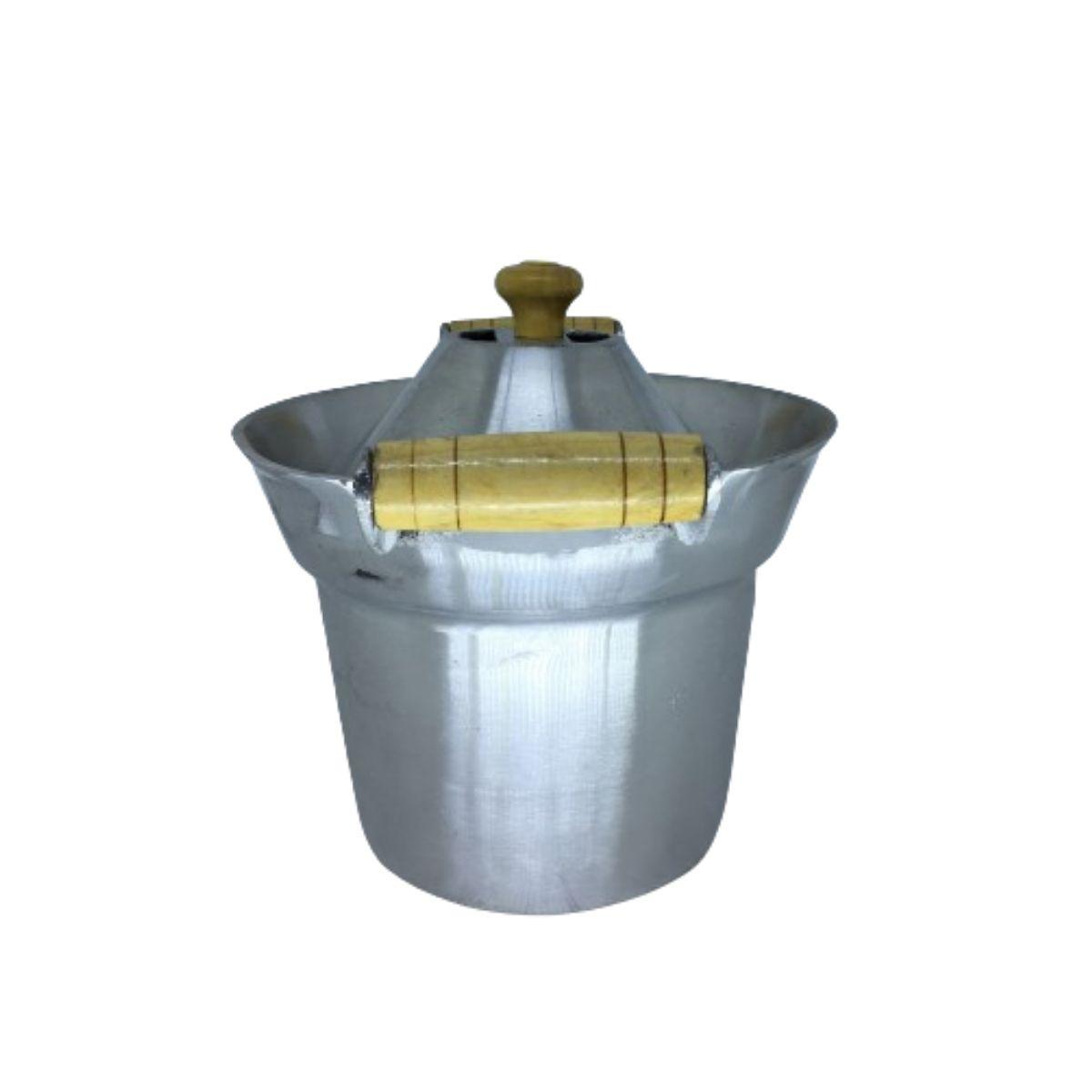 Fervedor Leiteira Inderramavel Alumínio Polido 2 Litros