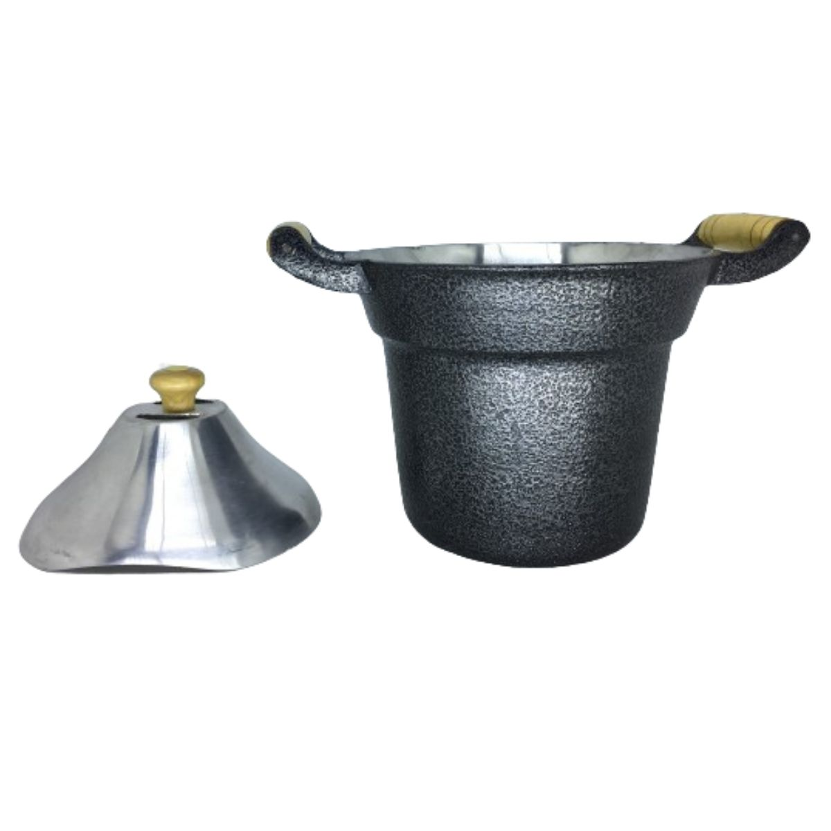 Fervedor Leiteira Inderramável Alumínio Preto 2 Litros