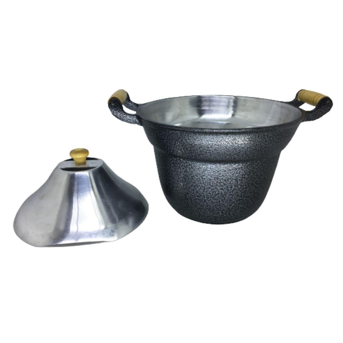 Fervedor Leiteira Inderramável Alumínio Preto 5 Litros