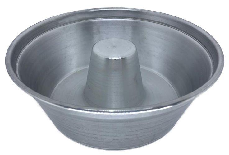 Forma de Pudim Bolo 18 Cm Alumínio Brilhante