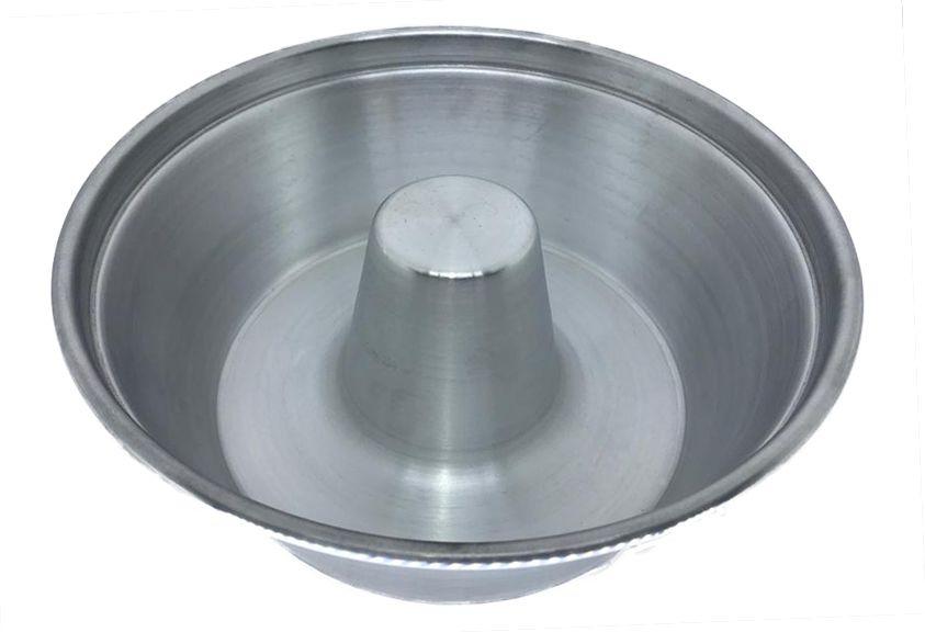 Forma de Pudim Bolo 22 Cm Alumínio Brilhante