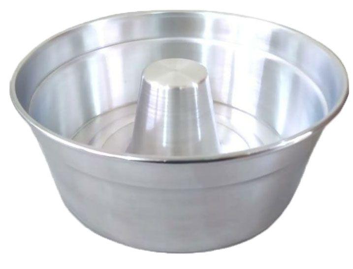 Forma de Pudim Bolo Alumínio Para Padaria Com Cone 24 cm
