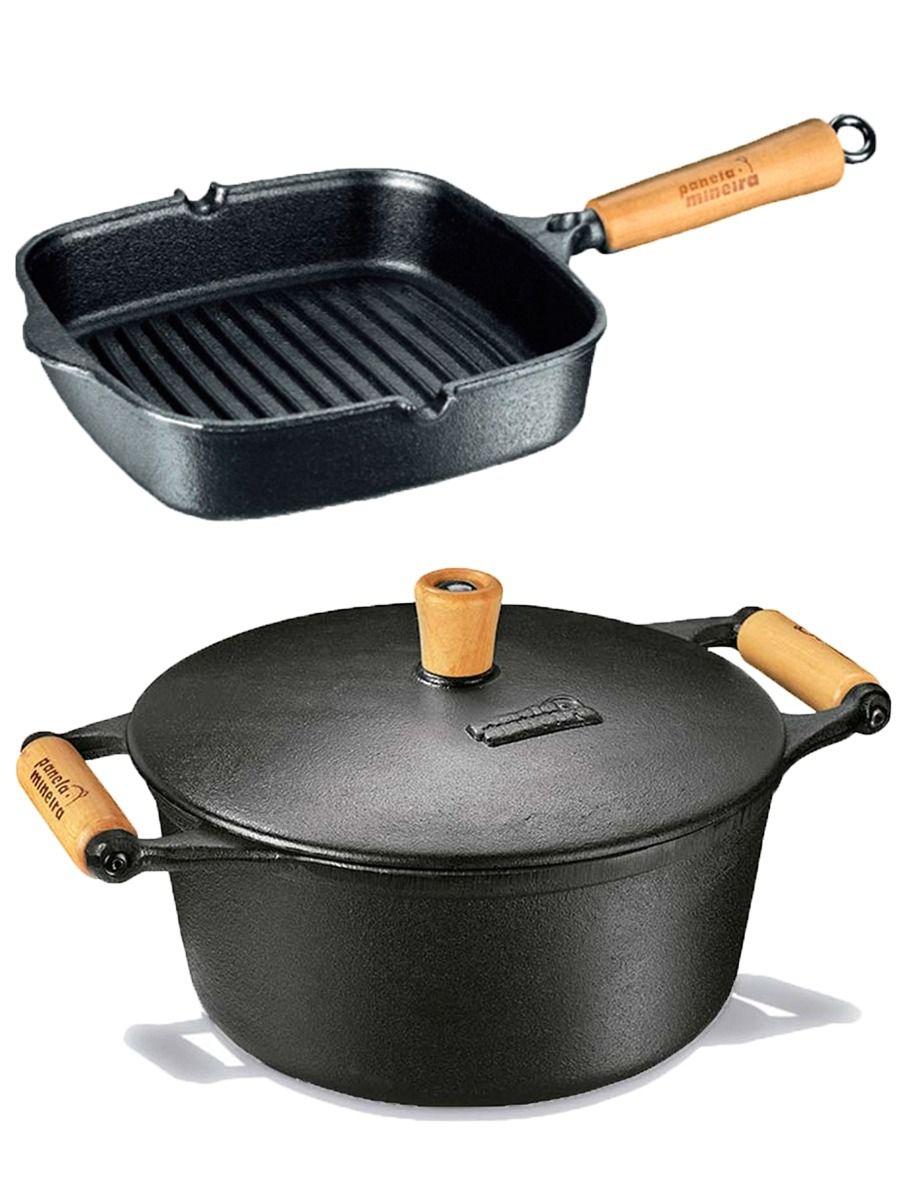 Frigideira Cook Grill + Caçarola 4,5 L 27cm - Panela Mineira