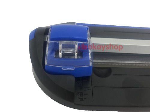 Guilhotina Refiladora 3 Em 1 A4 E Mini Canteadeira Raio 10mm