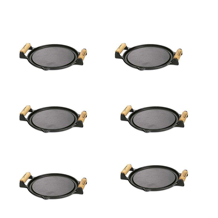 Jogo 6 Bifeteira Chapa De Ferro Diâmetro De 22,5cm Panela Mineira