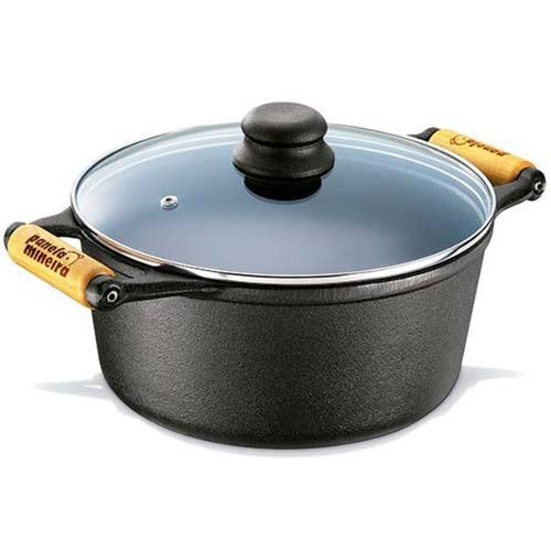 Jogo Panela Cook Grill E Caçarola Tampa De Vidro 4,5 Litros