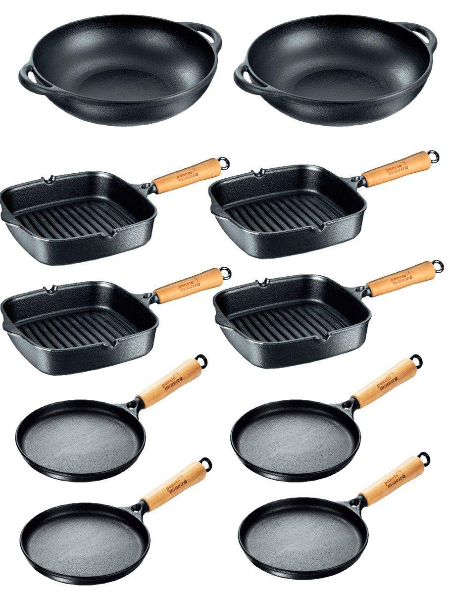 Kit 4 Cook Grill + 4 Tapioqueira +2 Parmegiana Panela Mineira