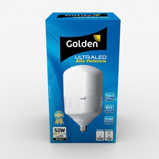 Lampada Golden Ultra Led 50w Alta Potencia Bulbo 6500K Branco Frio