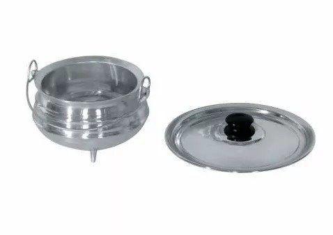 Panela Tripé N 5 Alumínio Polido 17cm X 12cm 2 Litro Feijão