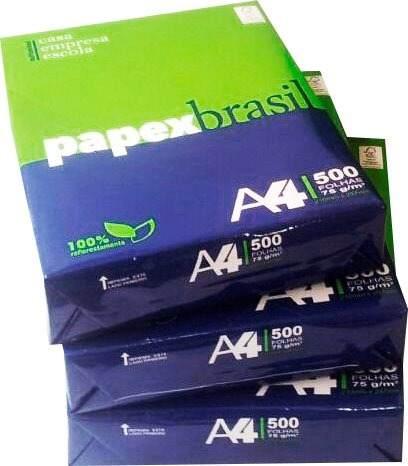Papel Sulfite A4 75g Caixa Com 8 Resmas 4000 Folhas Papex