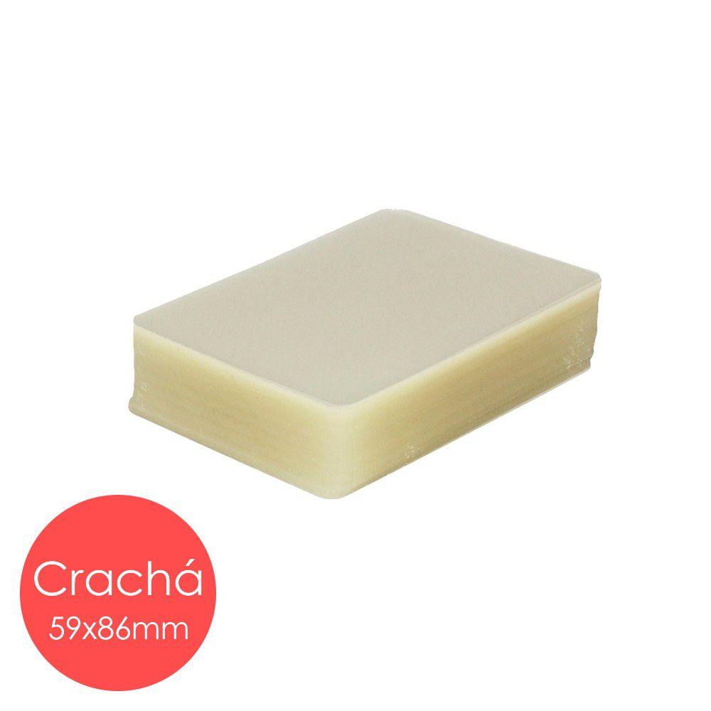 Plástico Pastificação Polaseal Crachá 59x86 mm (125 Microns) 0,05mm