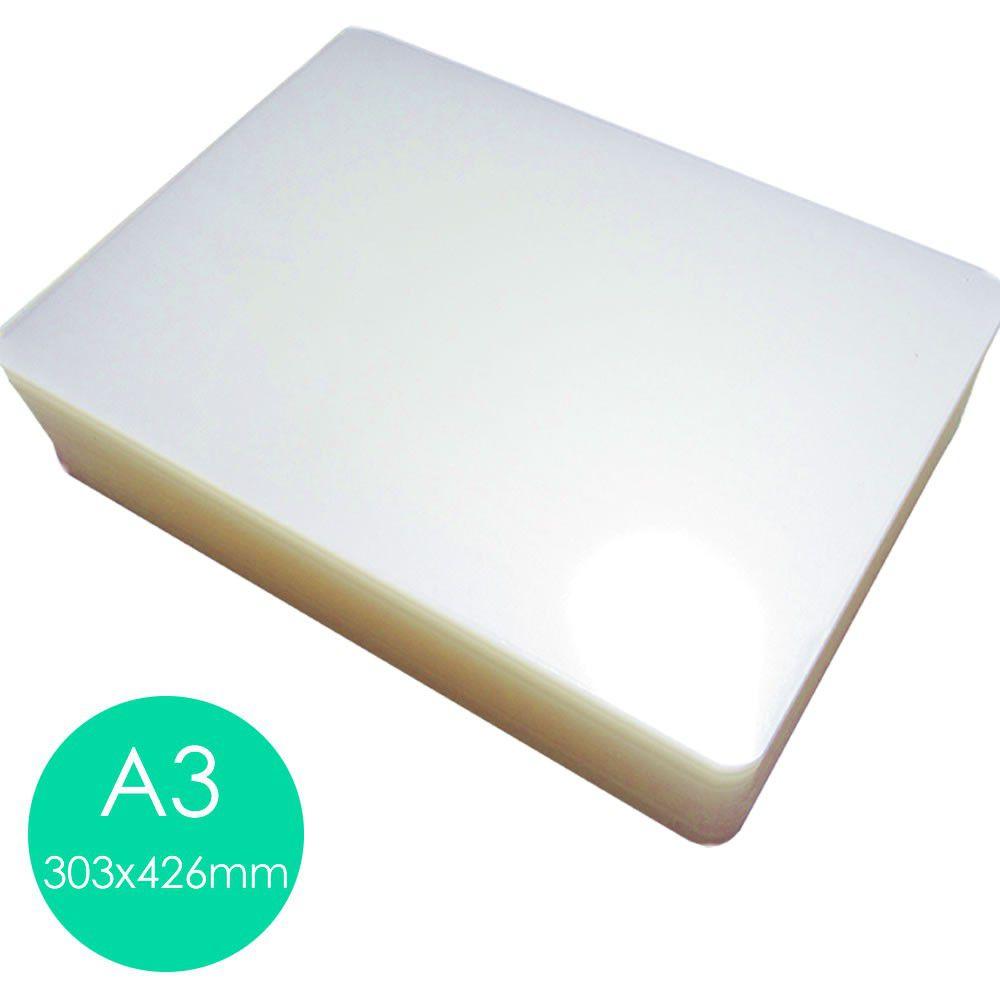 Plastico Plastificação Polaseal 03 Cento Do Tamanho A3 (303x426mm) 0,05mm