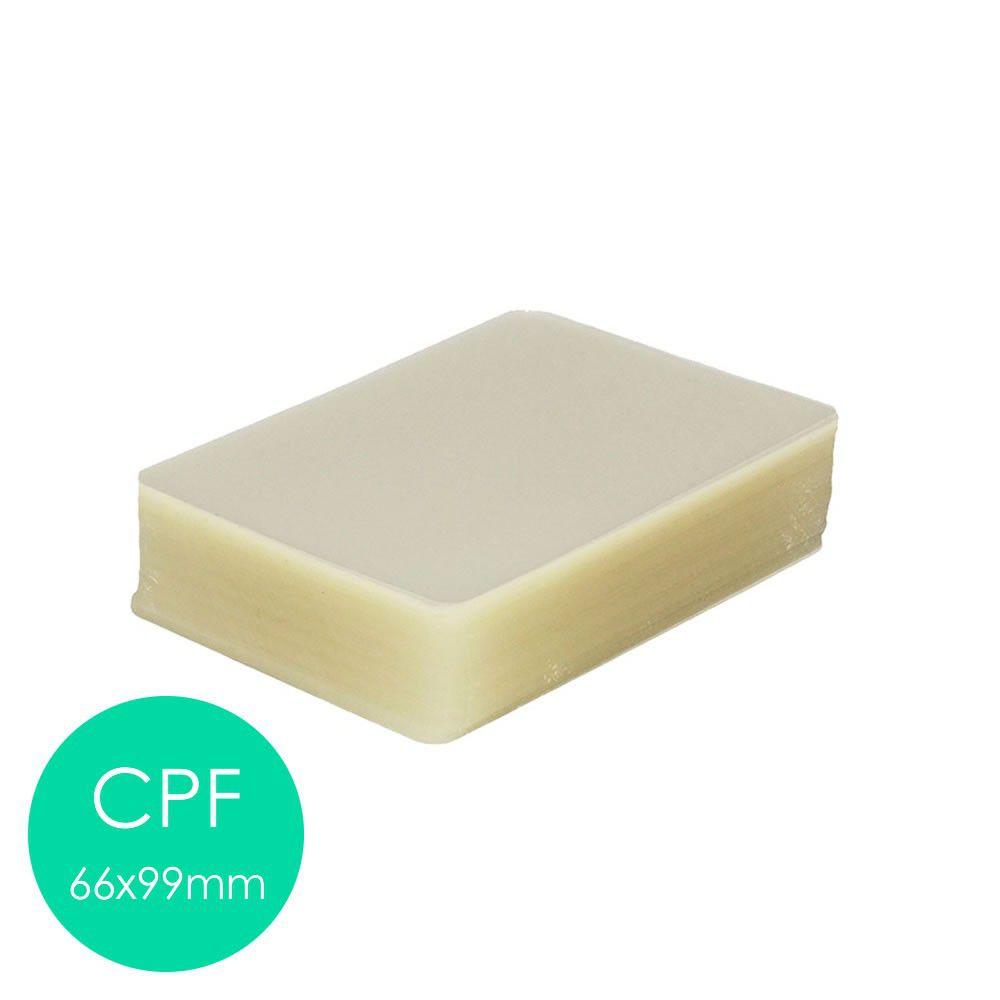 Plástico Plastificação Polaseal 3 Crachá 3 Cpf 3 Rg 3 Oficio - 0,05mm