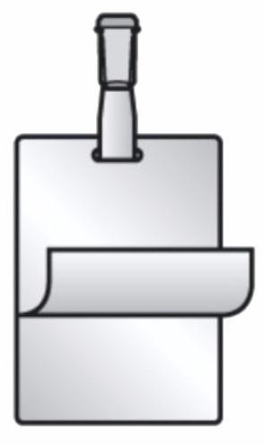 Pelicula Plastificação a Frio Cracha Vertical 70x107mm 10 Und