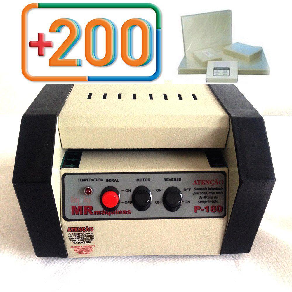 Plastificadora Crachá P-180 + Polaseal 200 Rg E 1000 Crachá