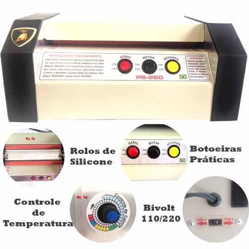 Plastificadora Poliseladora Ps280 + A4 + OFICIO