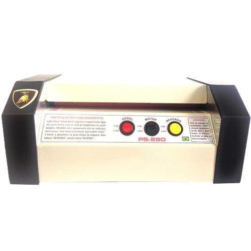 Plastificadora Ps-280 + 100 Crachá + 100 Rg + 300 Meio Ofício