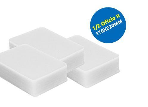 Plastico Plastificação Polaseal 02 Cento De Tamanho A4 E 01 Cento Meio Ofício