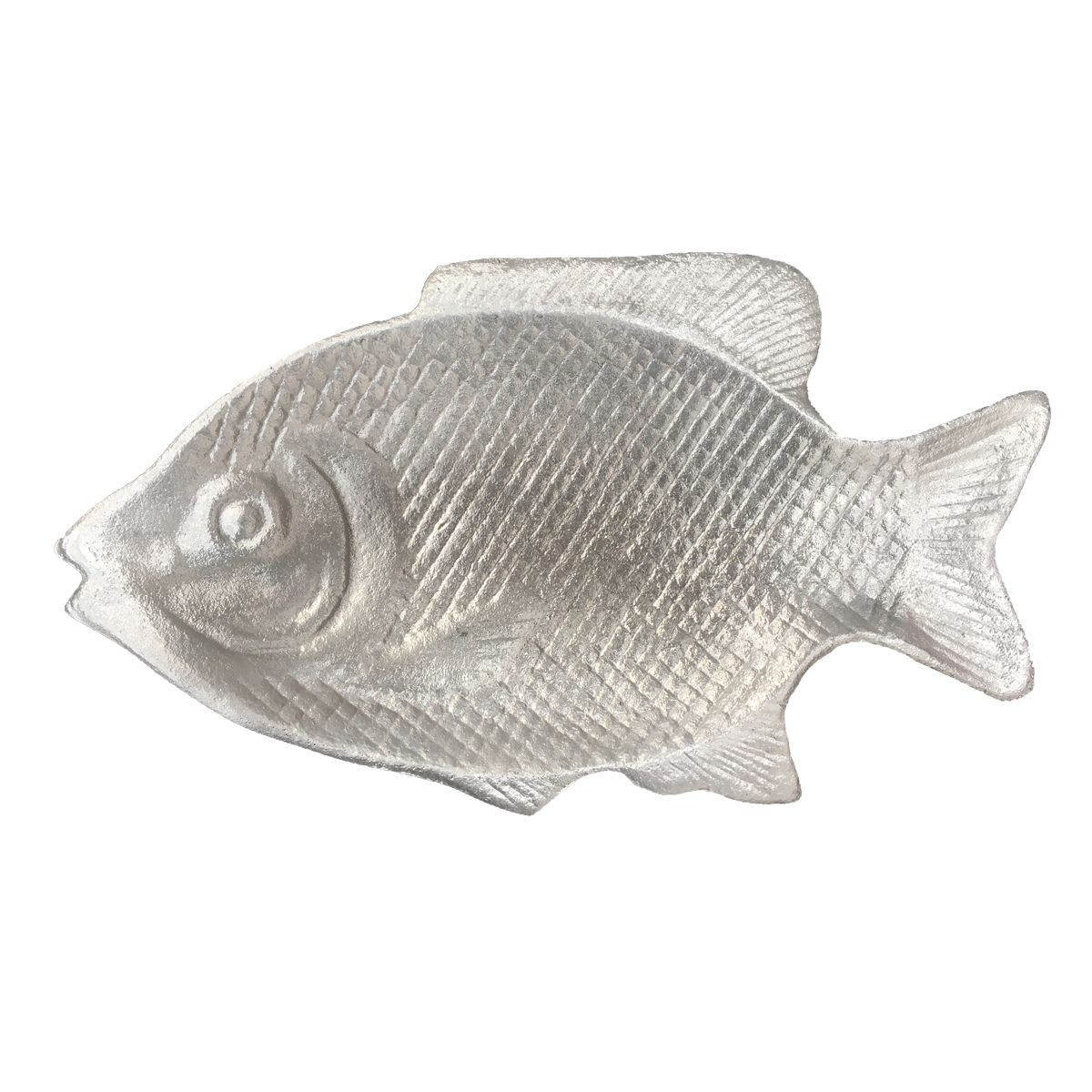 Travessa De Alumínio Fosco no Formato De Peixe