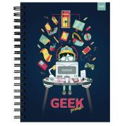 Caderno Capa Dura 96 Folhas Geek Proud - Pombo Lediberg - Standard