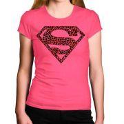 Camiseta Feminina Super Homem Oncinha