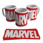 Caneca Porcelana Logotipo Super Heróis Marvel