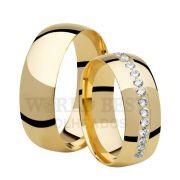 Par de Alianças de casamento WHAY GOLD 18k 14 gramas o par