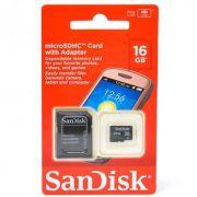 Cartão de Memória 16gb Micro Sandisk sdsdqm-a16g-b35a