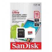 Cartão de Memória 16gb Ultra Sandisk sdsquns-016g-gn3ma