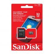 Cartão de Memória 32gb Micro Sandisk sdsdqm-032g-b35a