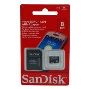 Cartão de Memória 8gb Micro Sandisk sdsdqm-008g-b35a