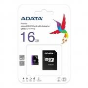 Cartão de Memória Adata 16Gb Micro c/ Adaptador SD Classe 10