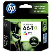 Cartucho de Tinta HP 664XL Colorido