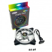Cooler p/ Gabinete Dex 120mm c/ 18 Leds Rgb Dx-12w