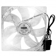 Cooler p/ Gabinete Dex 120mm c/ 4 Leds Branco Dx-12t