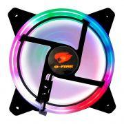 Cooler para Gabinete 120mm Gfire LED RAINBOW EW0509R