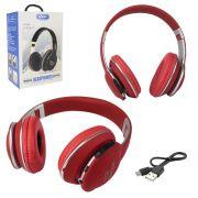 Fone de Ouvido Bluetooth Knup KP-462 Vermelho