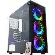 Gabinete Gamer KMex Atlantis 4 04n9 RGB 3 Coolers + Fita