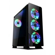 Gabinete Gamer Liketec Diamond (3x COOLER RGB/FRONTAL E LATERAL EM VIDRO/PSU COVER)