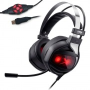 Headset Gamer Dex USB Vibration 7.1 DF-97